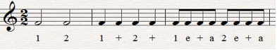 Music lesson on counting